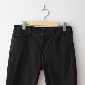 7 For All Mankind Black Skinny Jeans Size 28